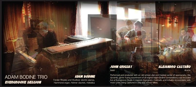Adam Bodine Trio - Evergroove Session studio pic