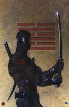 Snake-Eyes with sword