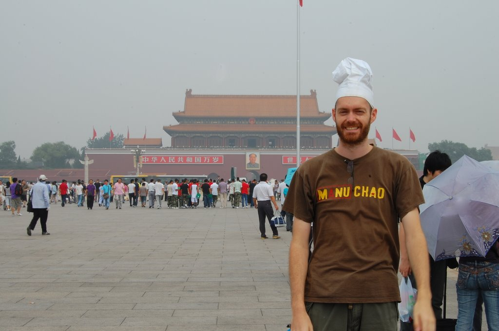 Chef in Tiananmen Square, Beijing, China