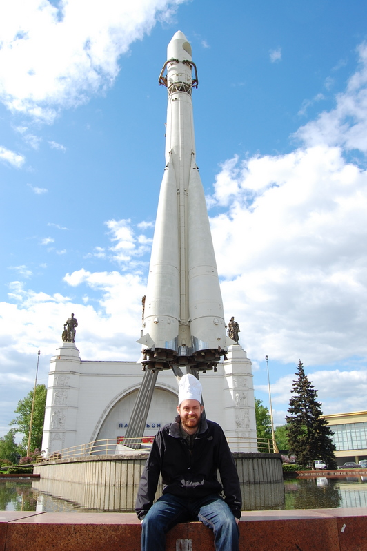 Chefs Hat - Moscow under a space rocket in an amusement park. Those crazy Ruaaians!