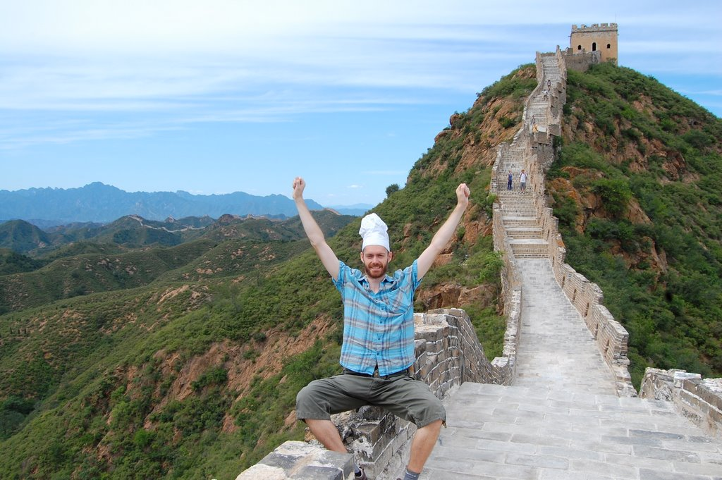 Chef on the Great Wall of China