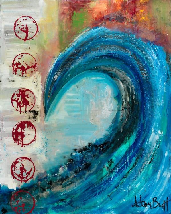 Classic Wave Adam Brett Surf Art