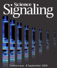 Science Signaling cover, 2009, vol. 2 (no. 87) // Image by Adam Byron // Reproduced with permission from AAAS