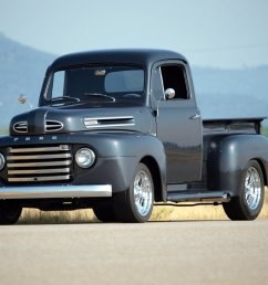 1950 custom ford f1 pickup front side view [ 1080 x 810 Pixel ]