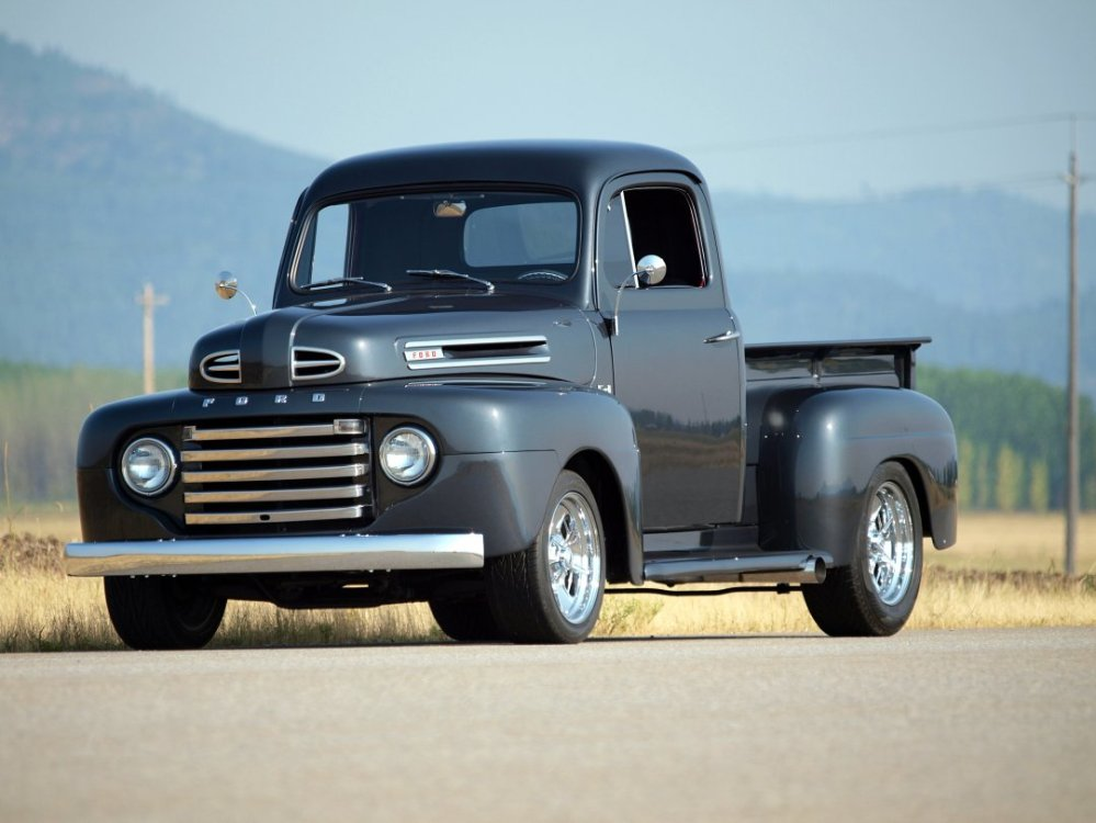 medium resolution of 1950 custom ford f1 pickup front side view