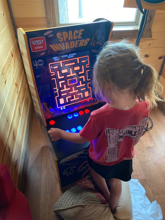 Playing Ms. Pac-Man on... Space Invaders
