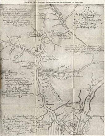 Von Graffenried's map of New Bern