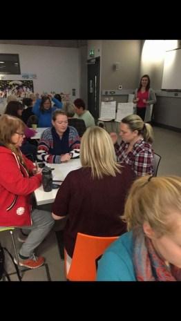 teaching the women's group Bunko!