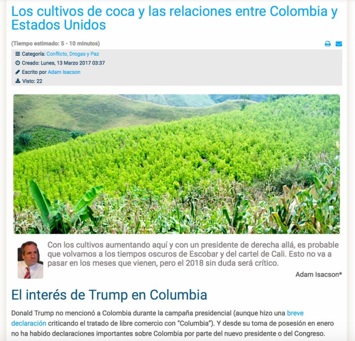 Screenshot from Razon Publica