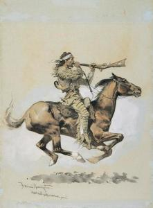 Buffalo Hunter by Frederick Remington