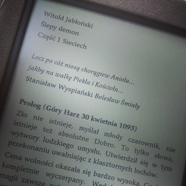 Ślepy demon Witold Jabłoński