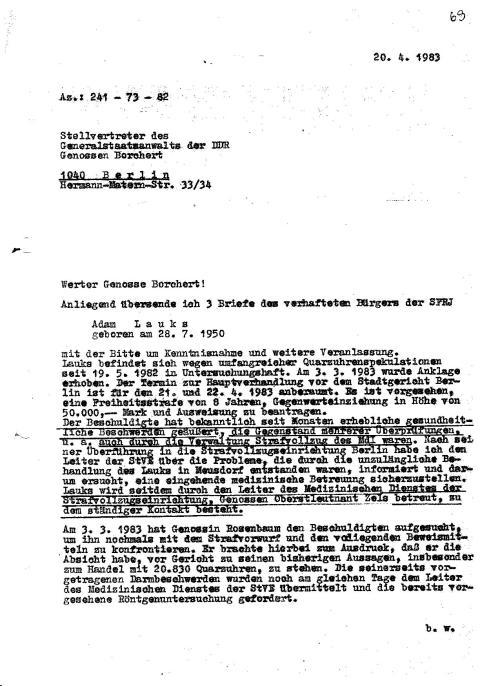 Who is fucked Dr Beinarowitz - who is fucked Genosse Borchert Stellvertreter des Generalstaatsanwalts der DDR und was haben die  beiden in diesr Rechtsbeugung zu tun!??`Die Wirtschaftsdiversion abzuschirmen !??