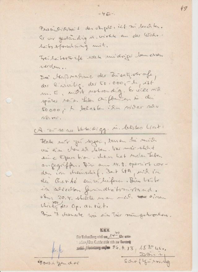 45 - 24.06.83 Stadtgericht Berlin Verhandlungsprotokoll