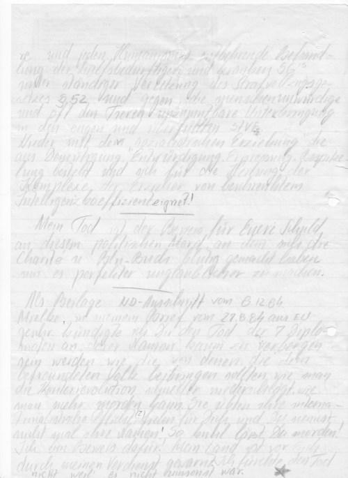 Dioe Abschrift fand ich in meiner versteckten und verleumdeten Gefangenenpersonalakte