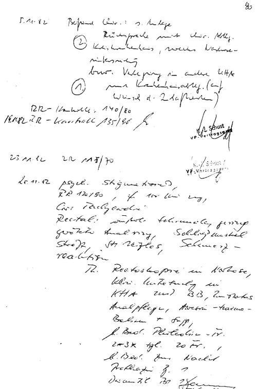 Am 25..11.1982 - die Eintragung ohne Stempel als Unterschrift !?
