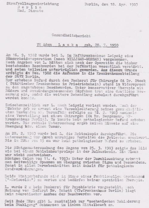 """""""Lückenlose medizinische Behandlung """" des IM Nagel OSL Dr.Zels"""