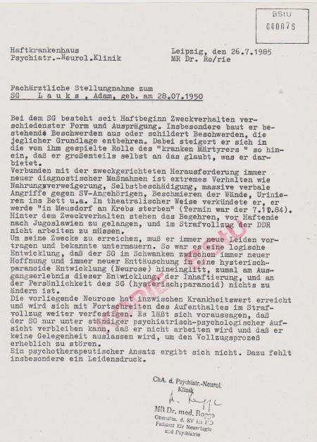 Der Krieg Lauks gegen die DDR tobt unvermindert mit voller Wucht weiter