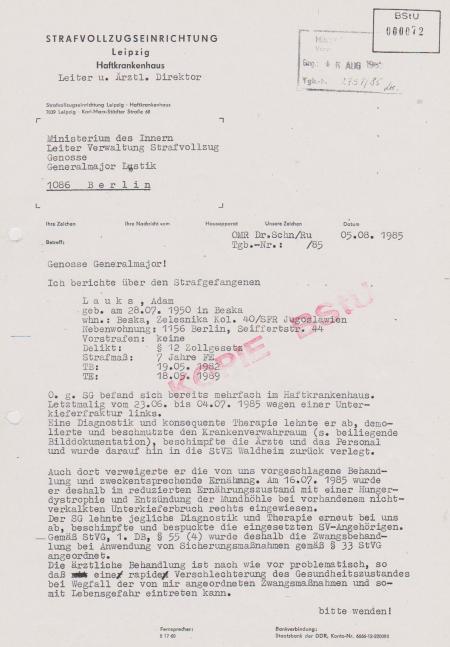 MdI - Leiter Verwaltung Strafvollzug, Gen.Generalmajor Lustik