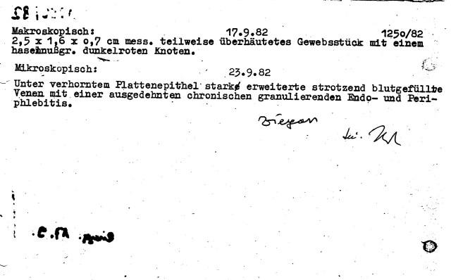 Zersetzung von Adam Lauks 1982.09.17.1
