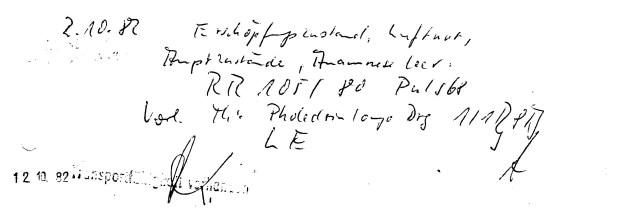 Zersetzung von Adam Lauks 1982.10.02.