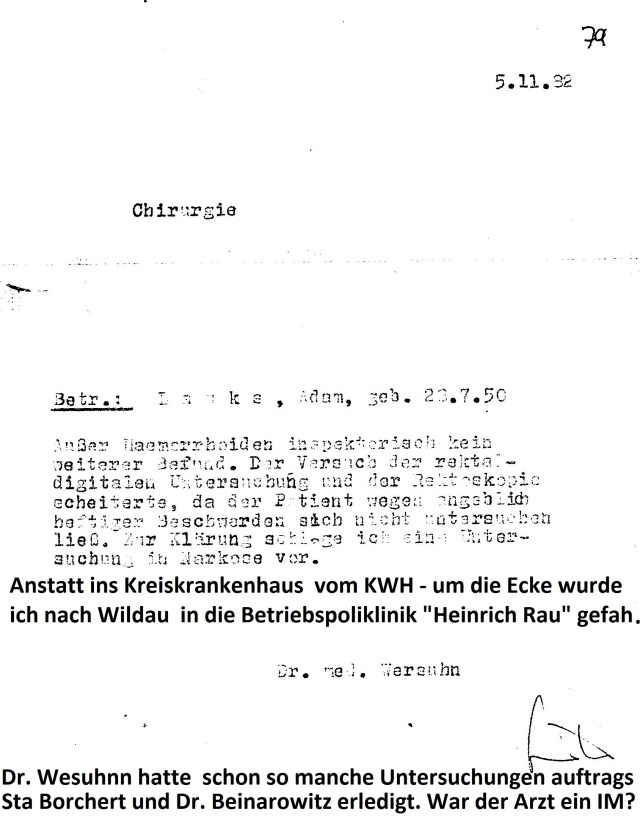 Zersetzung von Adam Lauks 1982.11.05.