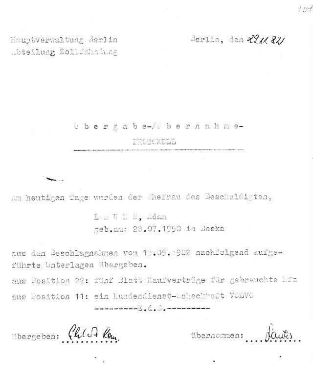 Zersetzung von Adam Lauks 1982.11.29.