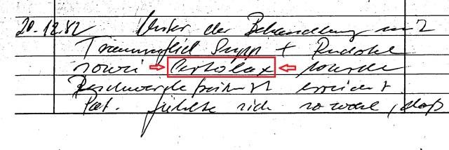 Zersetzung von Adam Lauks 1982.12.20.