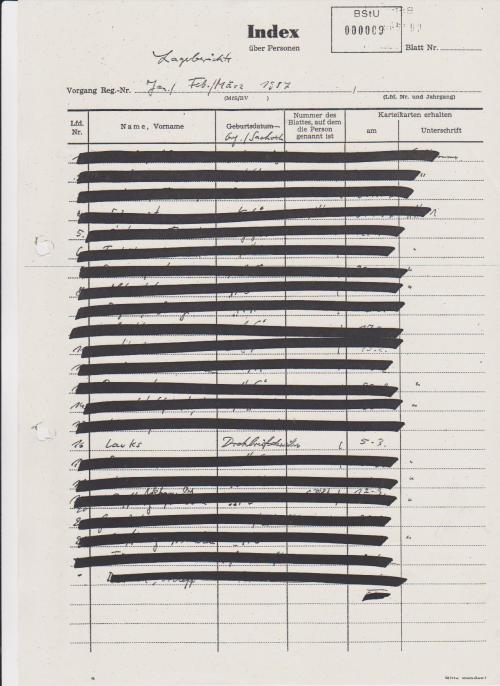 Lageberichte April/Mai 1987 13. Lauks Drohbrief  13.5.