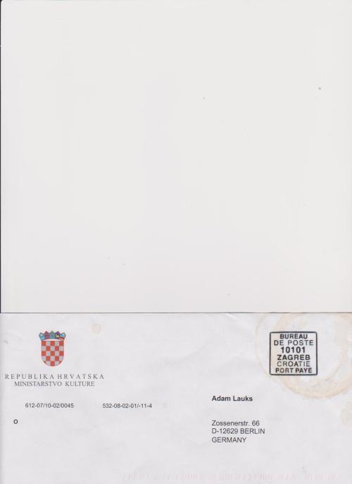 Ich schrieb an Ministerium für Kultur - verlangte nach Widerherstellung  im Oberlauf von KORANA