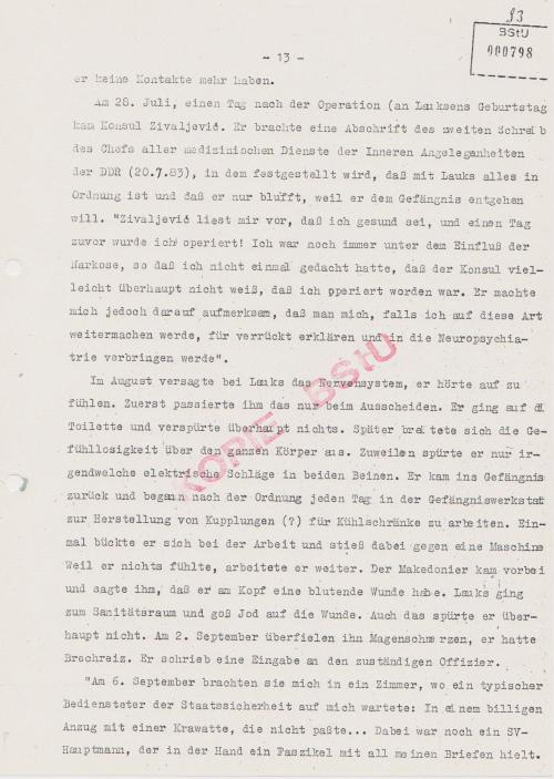 Konsul brachte das Schreiben vom 20.7.1983 an meinem Geburtstag 28.7.1983