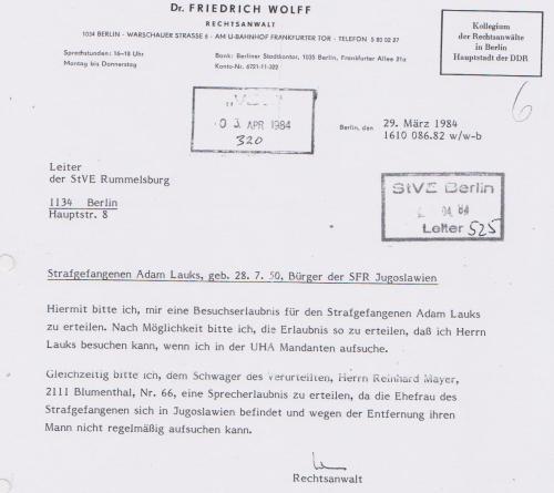 Bei Dr. Wolff doch nicht ! - Sein ganzes Leben setzte er  seit der Gründung der DDR ein !