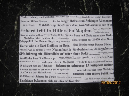 """gegen (Feindesland) die Bundesrepublik / Ausschnitte aus """" Neues Deutschland"""" und """"Berliner Zeitung"""" /"""