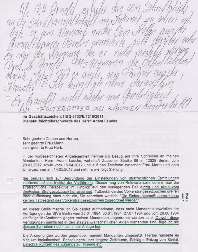 Oberstaatsanwalt Reichelt ist tüchtiger Leser meines Blogs - Nanu ?