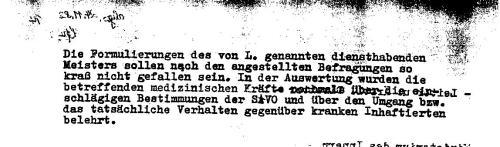 Dieser Jünger des Dr. Mengele kam navch meiner Rückkehr aus HKH Leipzig Meusdorf meine