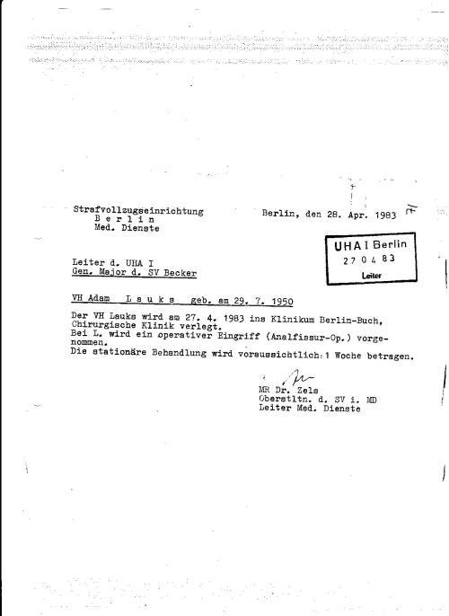 Aktenmanipulation ohne Ende. Für IME Arzt Oberstleutnant MR Dr. Erhard Zels ist das kein Problem. Er musste sich sein Ober MR redlich verdienen.