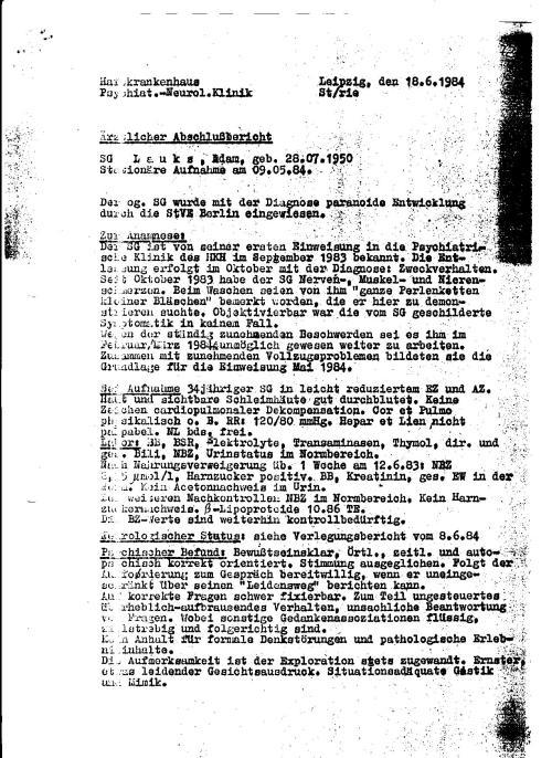 Die  zweite Zwangsweise Einweisung in die Psychiatrie auf Befehl von Janata IME PIT.