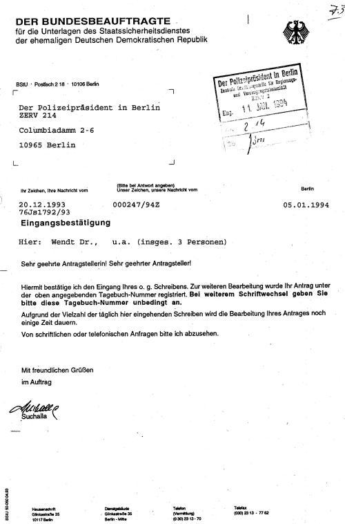 Im Ersuchen der Staatsanwaltschaft II bestand man auf Zusendung der Originalakte von Lauks Adam.