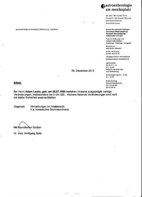 Sphiunktereinkerbung wurde von der STASI befohlen, am 27.7.1983