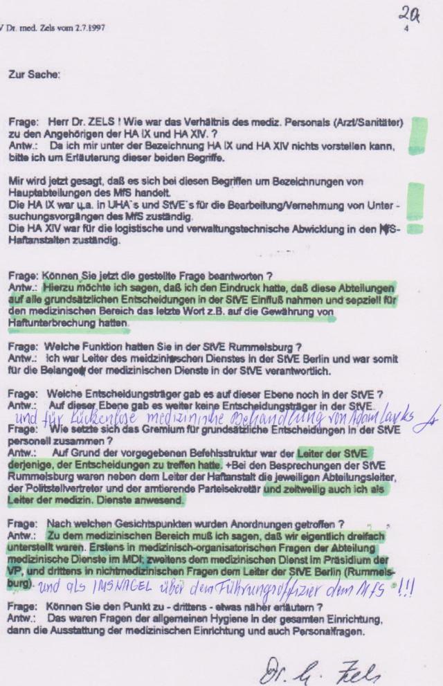 IME NAGEL ist sich sicher dass seine Akte bei der Gauckbehörde nicht existiert oder gesäubert ist.