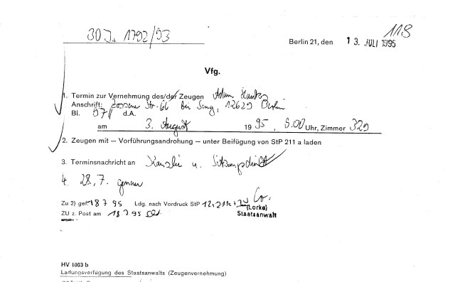 Ermittlungsverfahren 30 Js 1792 93 002