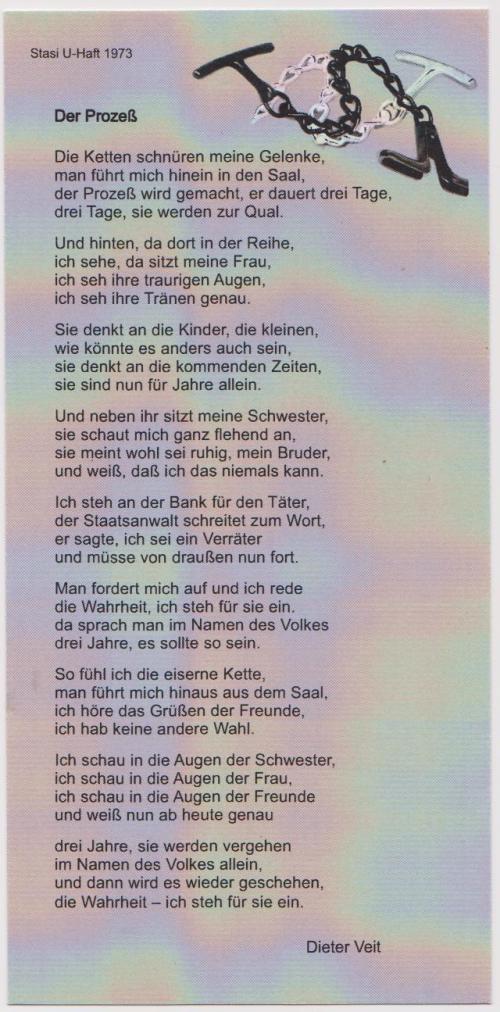 Dieter Veit  Der Prozess