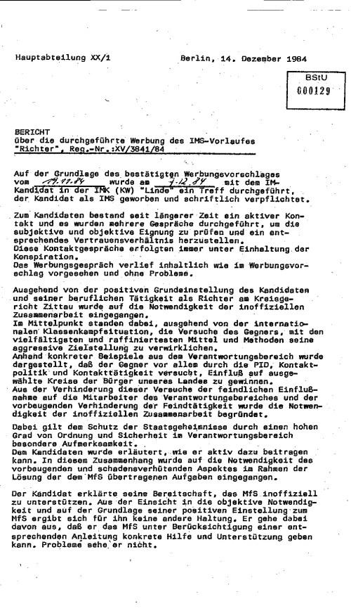 Prof.Dr.Arnold ein Hilfsmonteur aus Otto Buchwitz Werk wurde ausgewählt