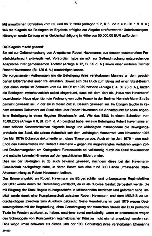 Schmuggel von Havemann