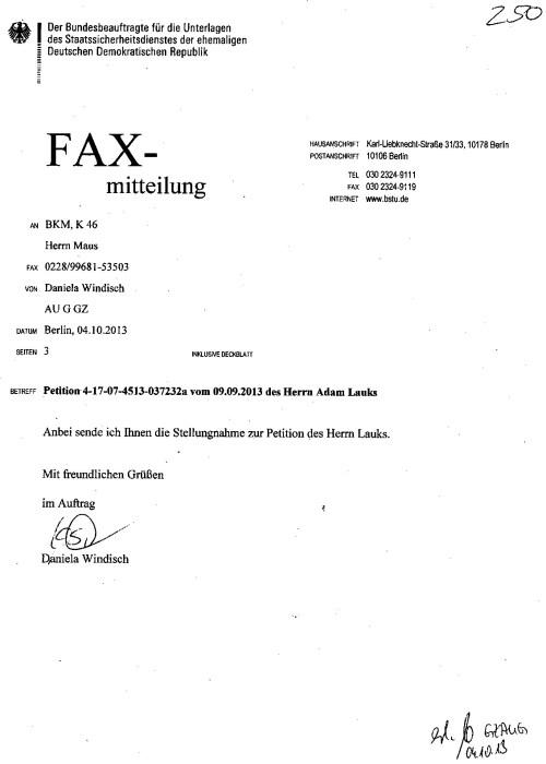 Es war die Petition des Bundestagspräsidenten Lammert