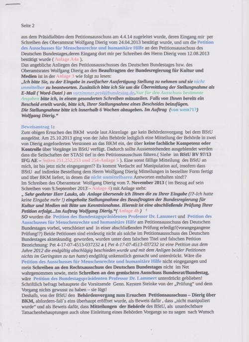 Stellungnahme des ungesühnten Folteropfers Adam Lauks auf die Klageerwiderung des BStU