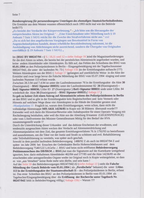 Stellungnahme des ungesühnten Folteropfers der STAZIS Adam Lauks auf die Klageerwiderung des BStU S. 4