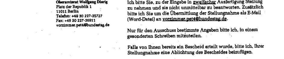 Offener Brief An Den Deutschen Bundestag Und An Alle