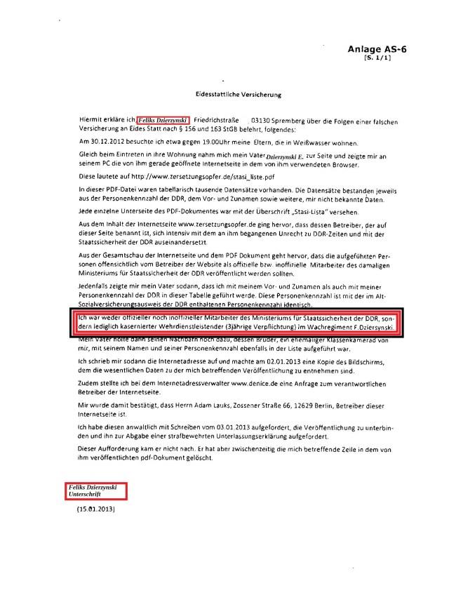 Grgen diese falsche  Versicherung an Eides statt hatte ich am 2.4.2013 eine Strafanzeige erstattet, einen Strafantrag gestellt. Nach fast 2 Jahren stellte  sie die Staatsanwältin Wißmann-Koch ein !?? Wird hier wein RA als V-Man vor Strafe geschützt !??  weoil Abgeordnetenhaus von Berlin  untätig bleibt bei dieser Rechtsbeugung mit Ansage !??? Generalstaatsanwaltschaft ermittelt wegen Korruptionsverdacht!?!