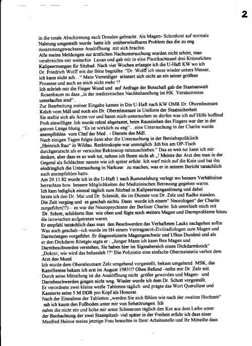 """""""Lückenlose medizinische Betreuung """" IME Ärzte des MfS  im Einsatz für die Sicherheit der DDR."""