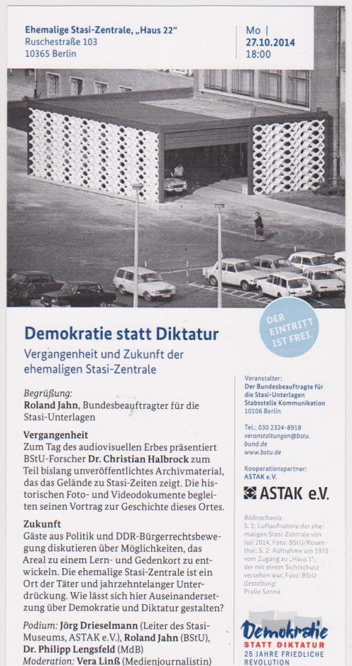 Es sollte Werbung für Roland Jahns Campus der Demokratie werden...